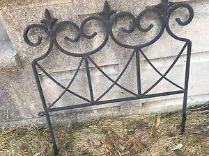 EUC, black rod iron garden fencing, 10 pieces, $40