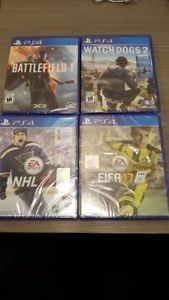 Four PS4 Games (Brand New Sealed - Unopened)
