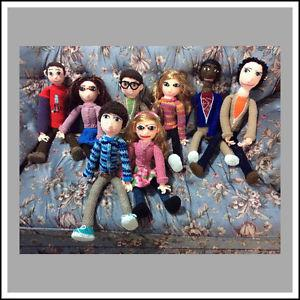 "HANDMADE ""BIG BANG THEORY"" CHARACTER DOLLS"