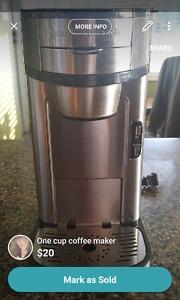 Hamilton Beach one cup coffee maker