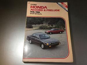 Honda Prelude Honda Accord Shop Manual 1st Gen 2nd