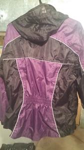 Ladies motorcycle rain jacket and pants