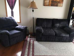 Love seat and rocking chair