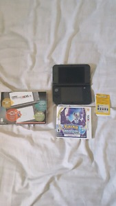 Nintendo 3DS XL with Pokémon Moon and case