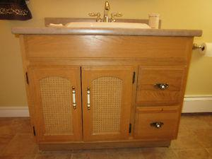 Oak Bathroom vanity with sink