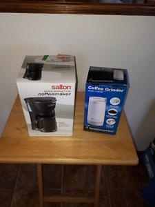 Salton 1 cup coffee Maker and bonus Toastmaster coffee