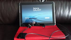 Samsung Galaxy Tab  inch screen with charger, case and