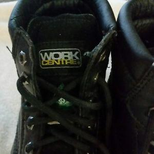 Steel toe work boots size 8
