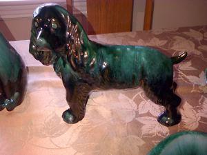 VINTAGE 'S BLUE MOUNTAIN POTTERY - LARGE SPANIEL DOG