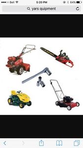 Wanted: Unwanted yard equipment