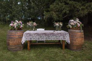 Wedding Decor, Rustic Wood Tables