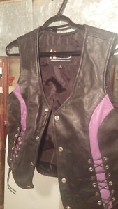 Womans motorcycle Jacket and vest