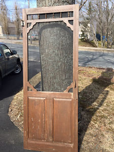 Wooden screen door