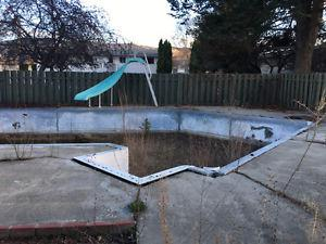 pool slide and sand filter