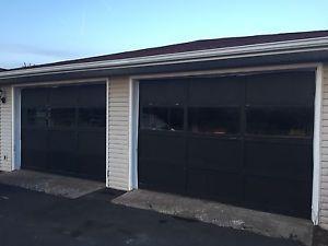2 X Wooden garage doors
