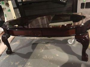 3 set mahogany coffee table and side tables