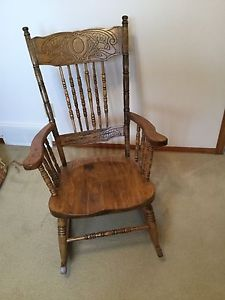 Antique Wood Rocking Chair