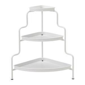 BNIB IKEA plant stand, indoor/outdoor, white