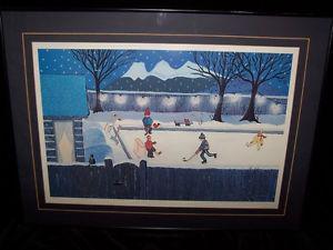 "CANADIAN FOLK ARTIST LINDA EVANS ""THE BACKYARD RINK"" LTD"