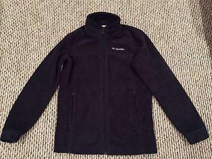 Columbia youth large () black zip up fleece - like new