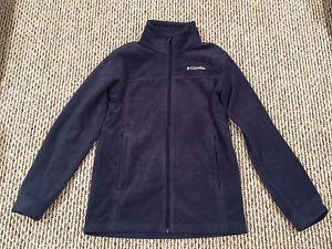 Columbia youth large () navy fleece jacket - like new