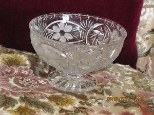 Crystal Bowl - Pinwheel & Flowers