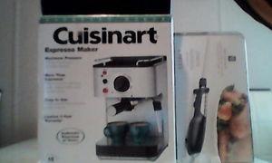 Cuisinart Espresso Maker & Chefs 6 Piece Carving Kit