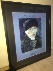 Framed and matted Joni Michell print