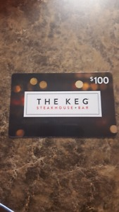Gift card for the Keg