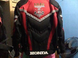 Honda motor cycle jacket in good condtion