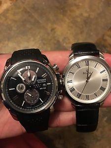 Men's Bulova and Citizen Eco-Drive watches