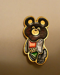 Olympic Games Moscow - badge Olympic Misha-Bear
