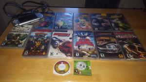 PSP with 10 games and movie