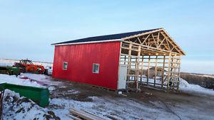 Pole sheds in Roofing