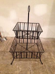 TWO TIER WROUGHT IRON STAND - EXCELLENT CONDITION!