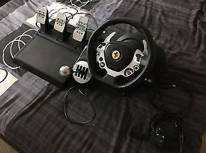 Tx Thrustmaster 458 Italian wheel with shifter and pedals