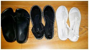 3 brand new pairs of summer shoes