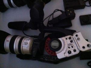 3 canon xl1 and a bunch of stuff to go with it. $350 for all