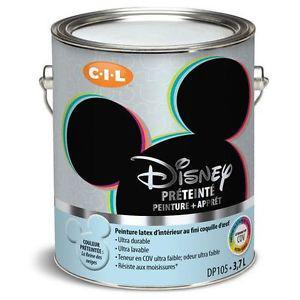 4 Gallons of Disney Paint, Light Blue