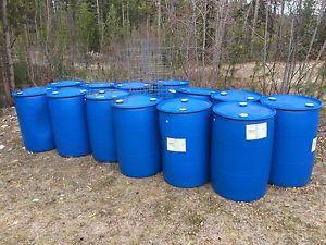45 gallon plastic drums $40 each