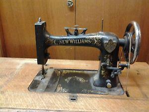 Antique New Williams Sewing Machine and Table