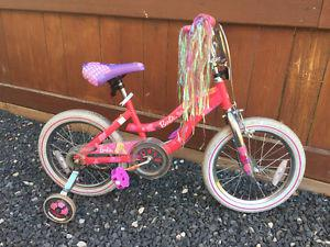 "Barbie bike, 16"" wheels"
