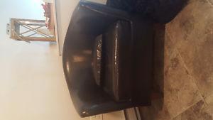 Black chair and ottoman