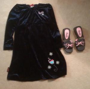 Brand New Barbie Dress (size 10) & Shoes (size 1)