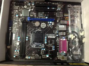 Brand new motherboard and used i cpu