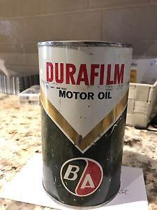 British American Oil BA Durafilm Quart Oil Can