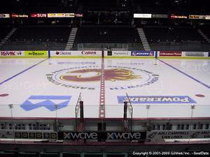 Flames v Ducks (Game 3) - SEC 120 ROW 2 (CENTER ICE)