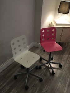Ikea kids adjustable desk chairs sold as a pair only $
