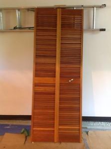 Mahogany Bifold Closet Door