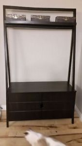 Pier One Morgan Rubbed Black TV Stand (Crescent Heights